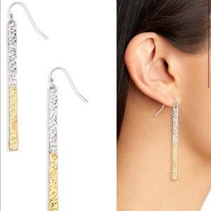 Canvas // Flat Bar Linear Earrings